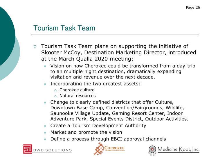 Tourism Task Team