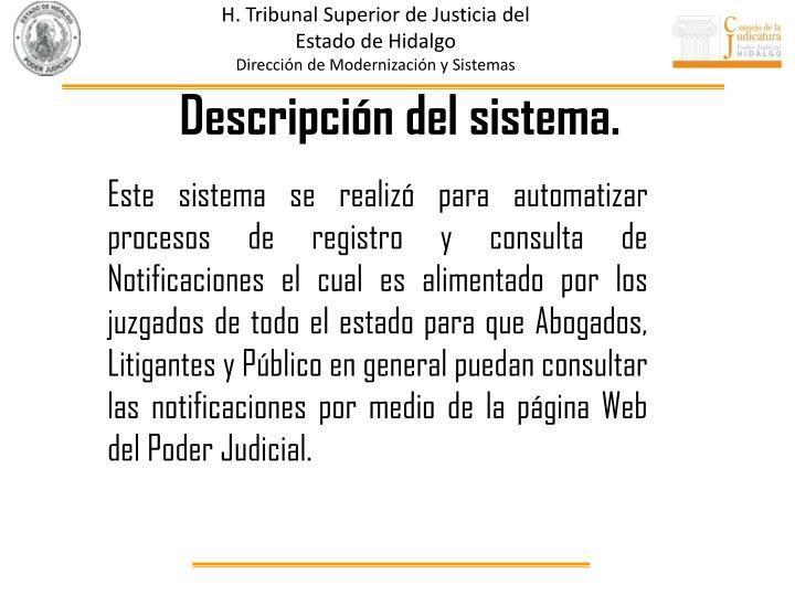 H. Tribunal Superior de Justicia del