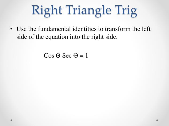 Right Triangle Trig