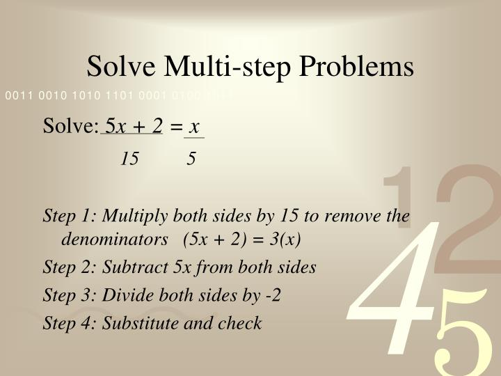 Solve Multi-step Problems