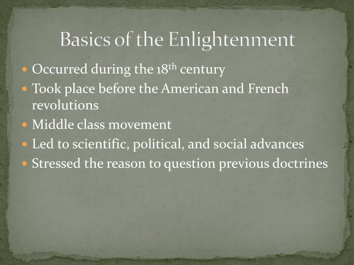 Basics of the enlightenment