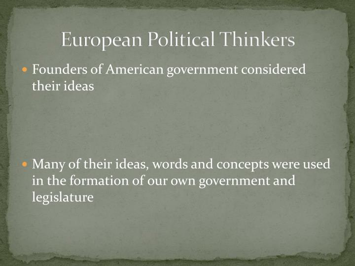 European Political Thinkers