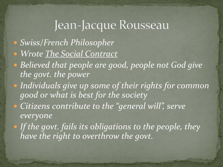 Jean-Jacque Rousseau
