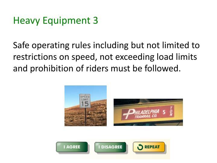 Heavy Equipment 3