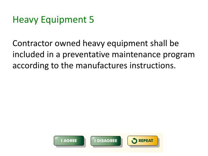 Heavy Equipment 5
