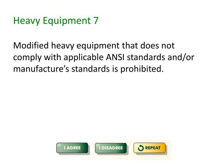 Heavy Equipment 7