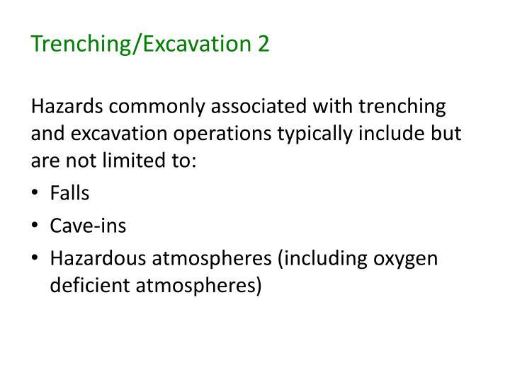 Trenching/Excavation 2