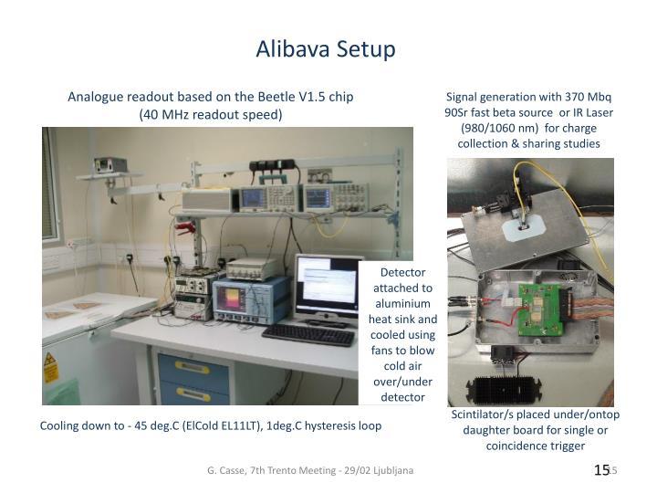 Alibava Setup