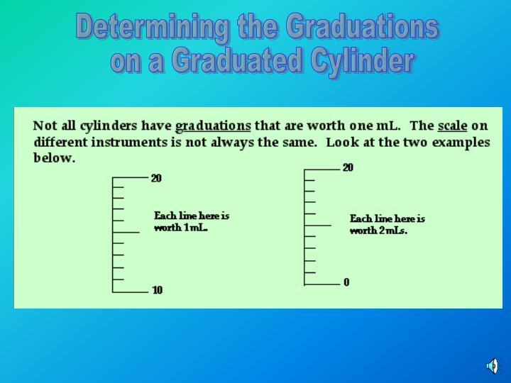 Determining the Graduations