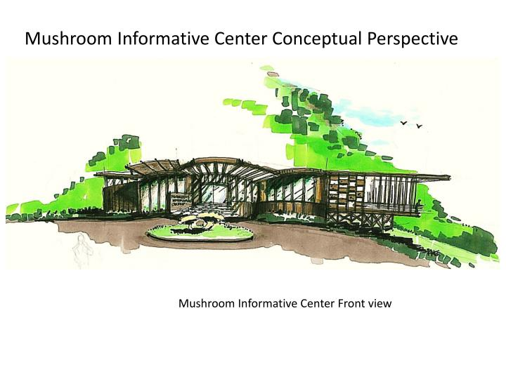 Mushroom Informative Center Conceptual Perspective