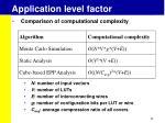 application level factor1
