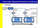 cross layer optimized placement and routing4