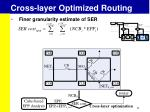 cross layer optimized routing