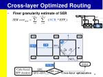 cross layer optimized routing1