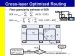 cross layer optimized routing3