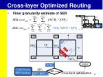 cross layer optimized routing5