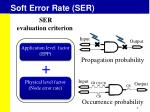 soft error rate ser