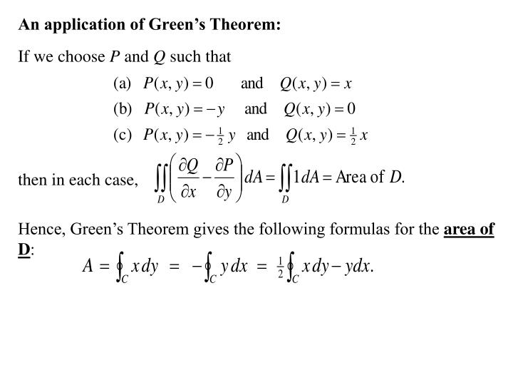 An application of Green's Theorem: