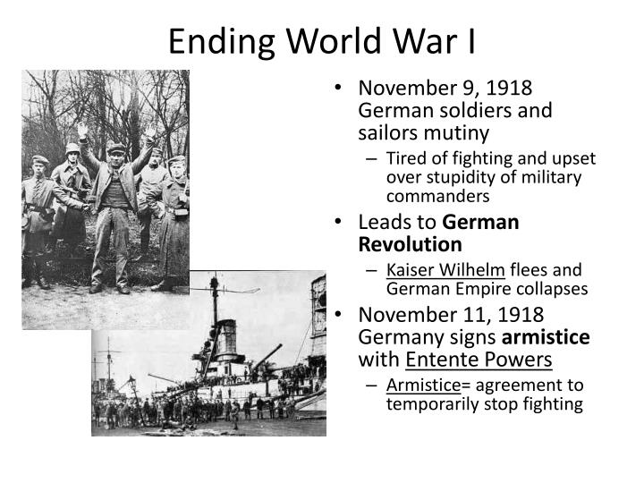 Ending World War I