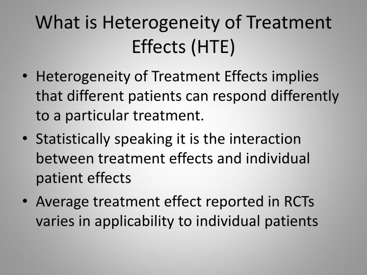 What is heterogeneity of treatment effects hte