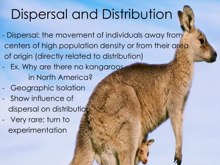 Dispersal and Distribution