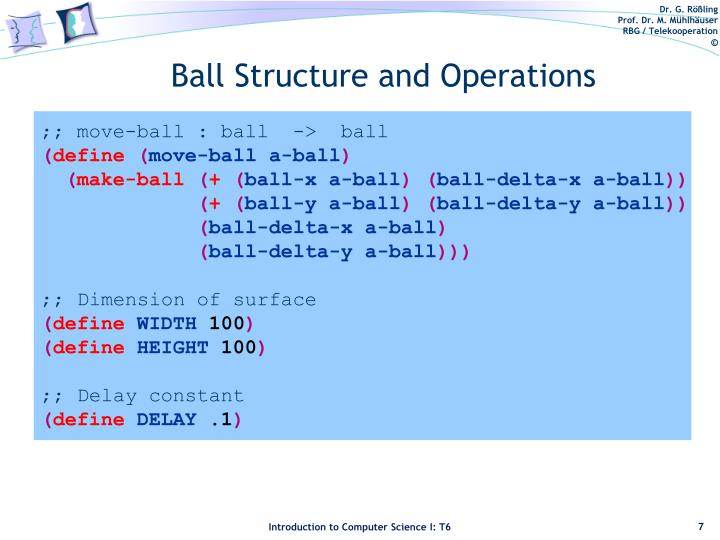 Ball Structure and Operations