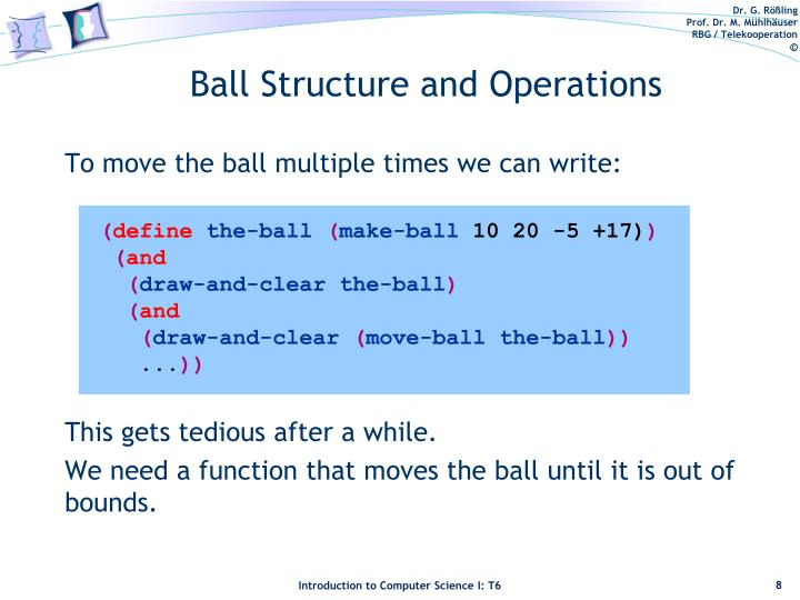 To move the ball multiple times we can write: