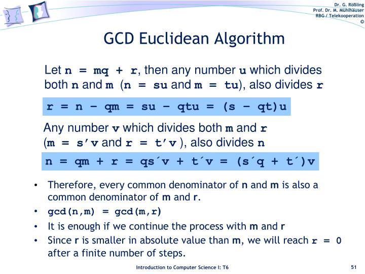 GCD Euclidean Algorithm