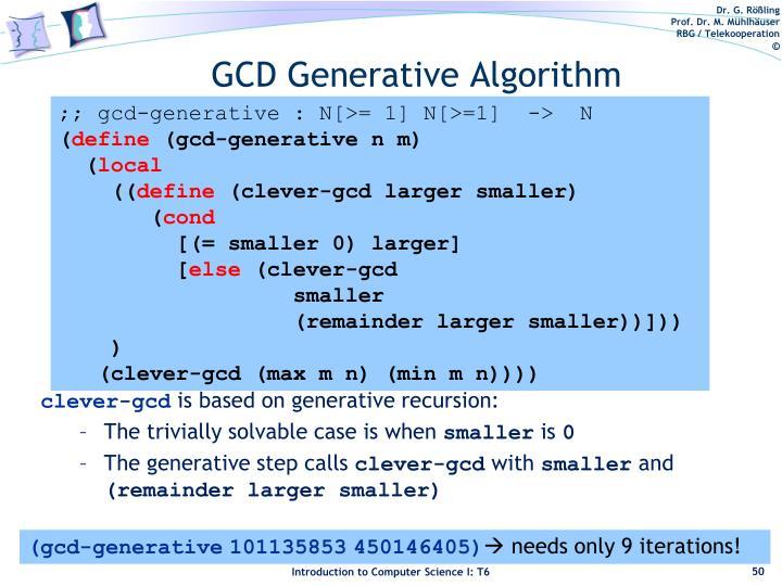 GCD Generative Algorithm