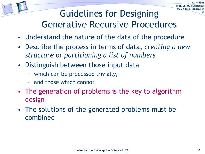 Guidelines for