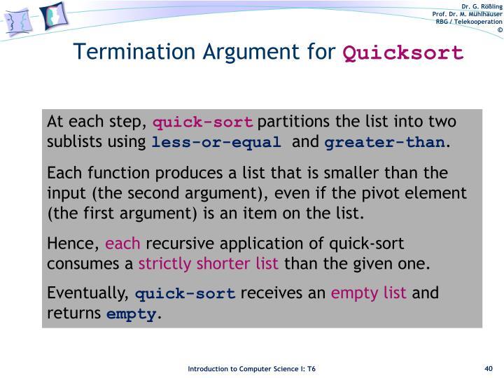 Termination Argument for