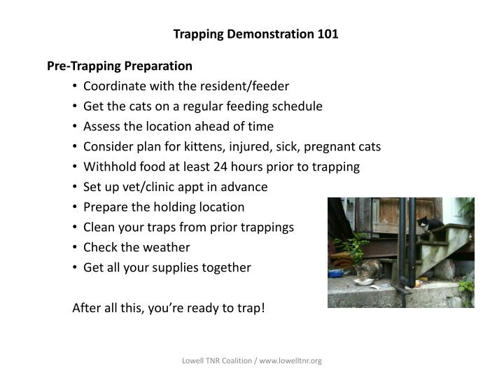Trapping demonstration 1011