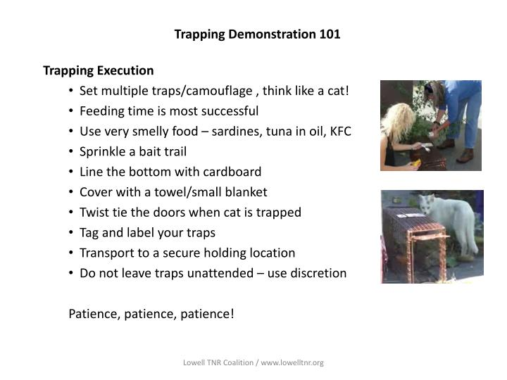 Trapping demonstration 1012