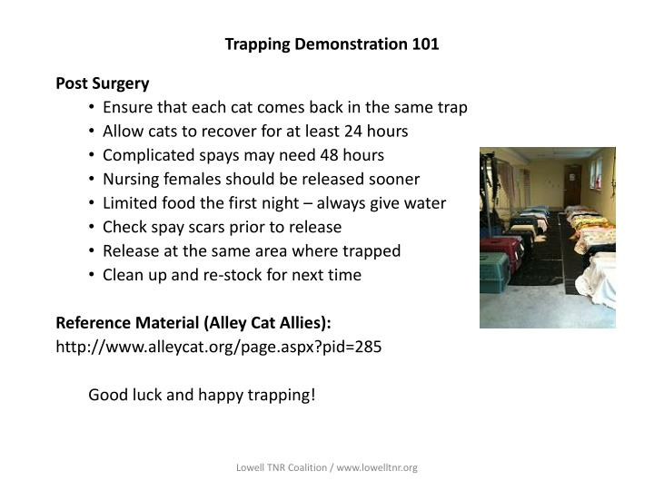 Trapping Demonstration 101