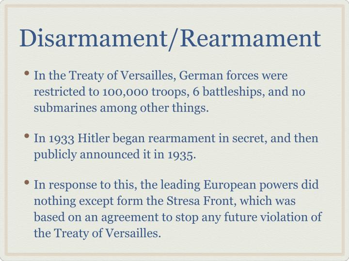 Disarmament rearmament