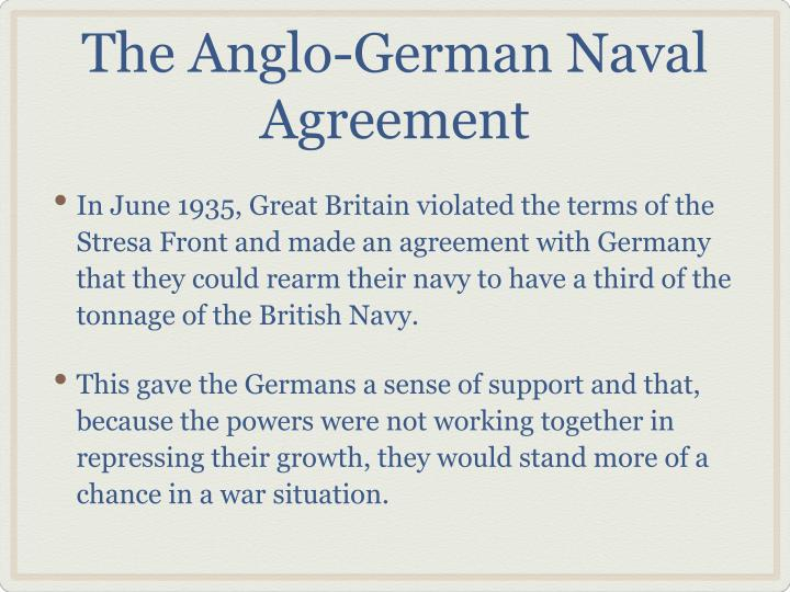 The Anglo-German Naval Agreement