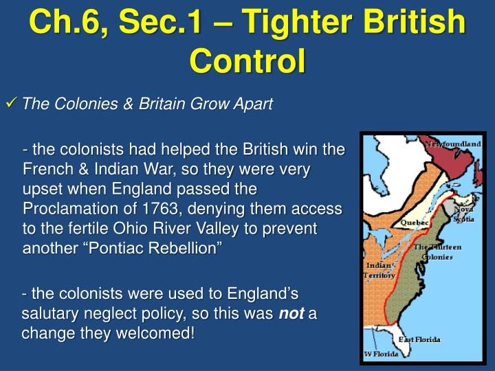 ch 6 sec 1 tighter british control
