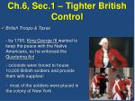 ch 6 sec 1 tighter british control1