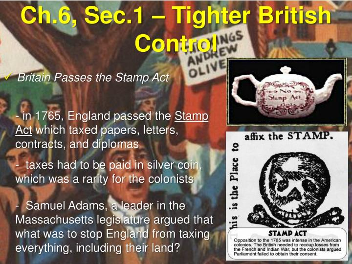 Britain Passes the Stamp Act
