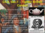 ch 6 sec 1 tighter british control4