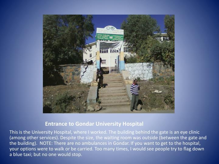 Entrance to Gondar University Hospital