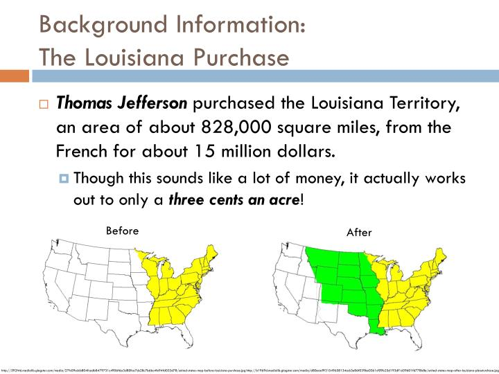 Background information the louisiana purchase