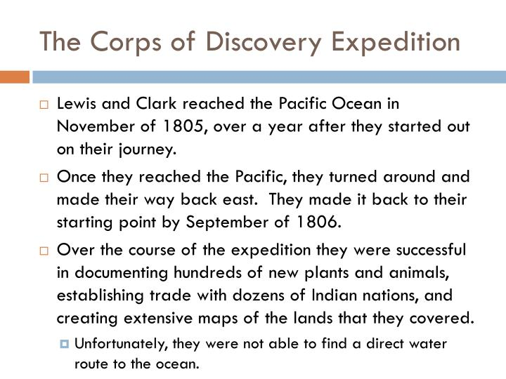 The Corps of Discovery Expedition