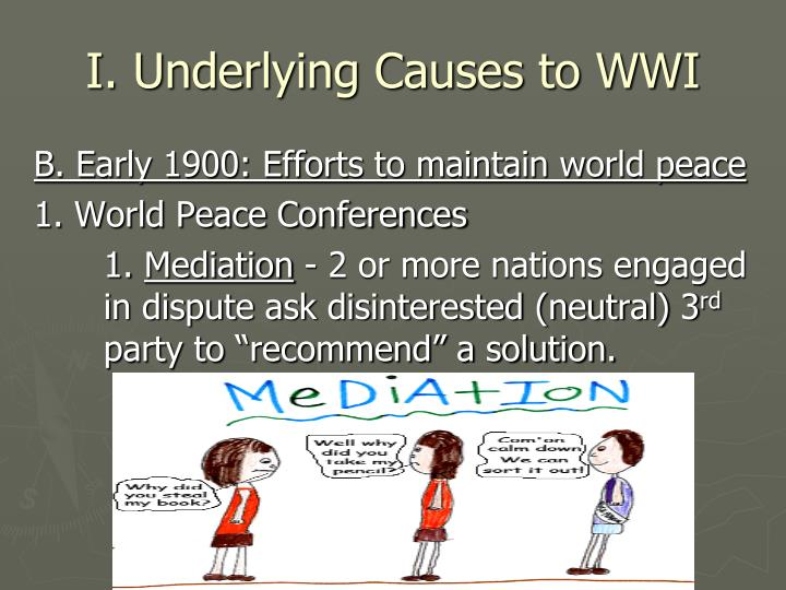 I. Underlying Causes to WWI