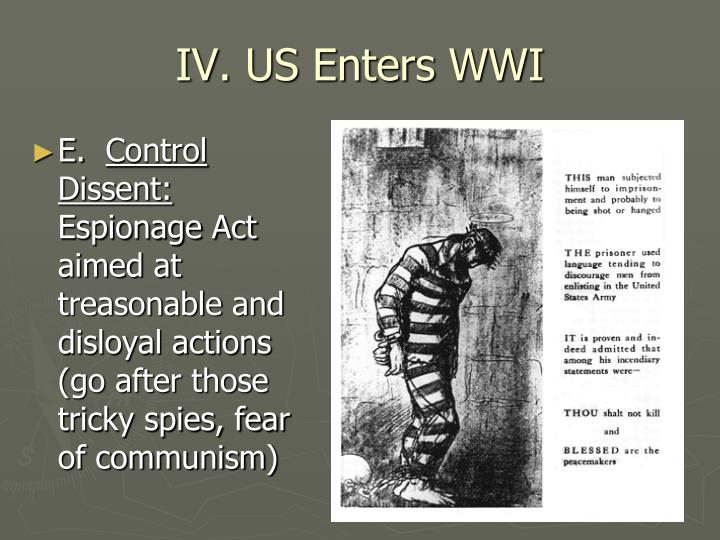 IV. US Enters WWI