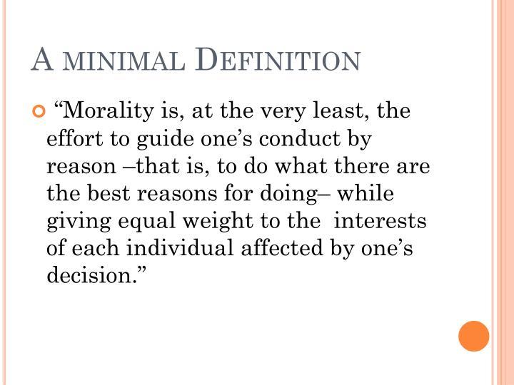 A minimal Definition