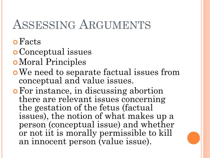 Assessing Arguments