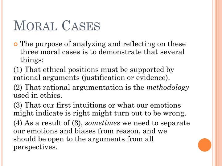 Moral Cases