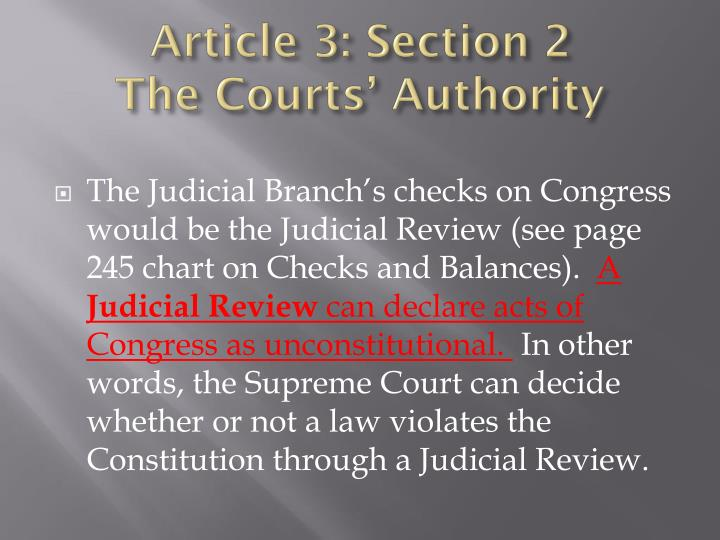 Article 3: Section 2