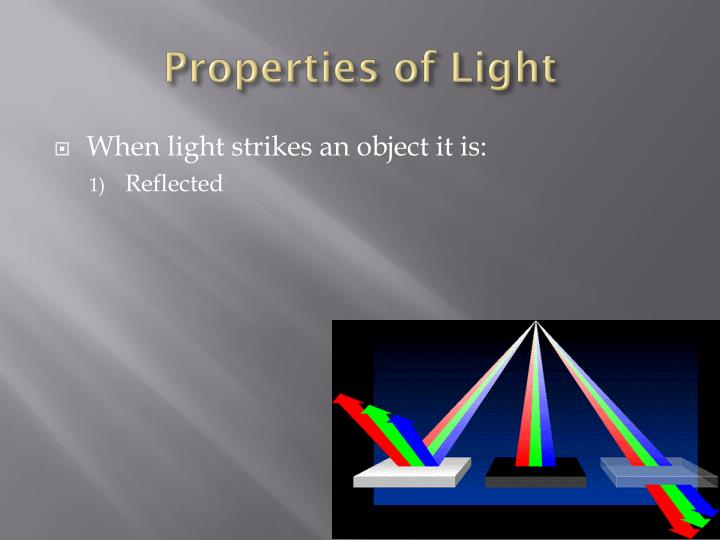 Properties of light1